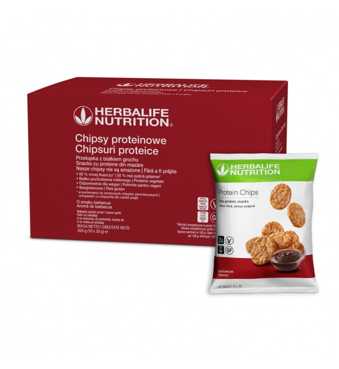 chipsy proteinowe Herbalife barbecue